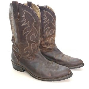 DOUBLE-H ROBERT Leather Cowboy Western Boots 14